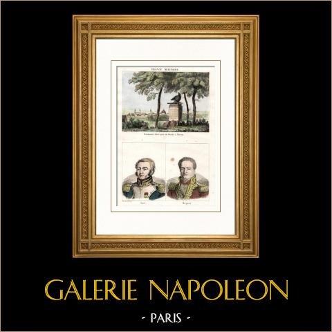 Wojny Napoleońskie - Pomnik - Drezno - śmierć Więcejau - Portrety - Louis Lepic (1765-1827) - Pierre Margaron (1765-1824) |