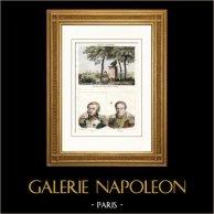 Guerres Napoléoniennes - Monument - Dresde - Mort de Moreau - Portraits - Louis Lepic (1765-1827) - Pierre Margaron (1765-1824)
