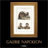 Camponeses Russos (Rússia) - Retratos - Auguste Jean-Gabriel de Caulaincourt (1777-1812) - Claude Antoine Hippolyte de Préval (1776-1853)
