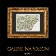 Antique map - French Revolutionary Wars - Battle of Neerwinden (1793)