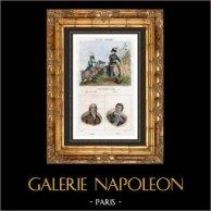 Militair uniform - Franse mode - 1792 - Algemeen - Portretten - Jean-Marie Roland (1734-1793) - Marat (1743-1793)