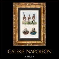 Soldados Ingleses - Traje Militar - Infantaria - Retratos - Jourdan (1762-1833) - Moreau (1763-1813)