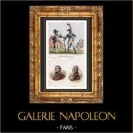 French Fashion - France - Military Uniform - Infantry - 1792   - Portraits - Santerre (1752-1809) - Armand-Louis de Gontaut Biron (1747-1793)