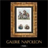 Fransk Armé - Gendarmeri - Kyrassiär - 1793 - Porträtts - Valence (1757-1822) - Danton (1759-1794)