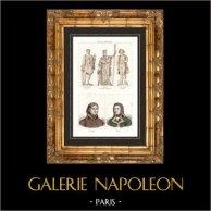Estátuas de Napoleão Bonaparte - Columna Vendôme - Paris - Retratos - Beaupuy (1755-1796) - Abbatucci (1771-1796)