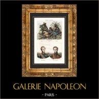 Trajes de Argélia - Cabília - Mouro - Retratos - Duc d'Orléans (1810-1842) - Luís duque de Nemours (1814-1896)
