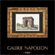 View of Paris (France) - Triumphal arch