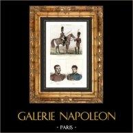 Guerras Napoleónicas - Uniforme - Granadeiro da Guarda Imperial de Napoleão - Retrati - Quiroga (1788-1835) - Rafael del Riego (1784-1823)