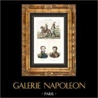 Soldado Napoleonico - Roupa - Guarda Imperial - Retratos - Cambronne (1770-1842) - Daumesnil (1776-1832)