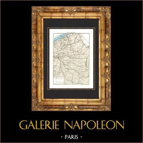 Zabytkowa Mapa - Kampania Francji - Napoleon i - 1814 |