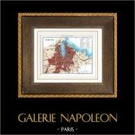 Antique map - France - Marseille (Bouches-du-Rhône - Bouches-du-Rhone)