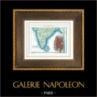 Ancienne carte - France - Inde - Pondichéry