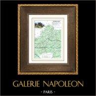 Antique map - France - Dordogne (Périgueux - Bergerac)