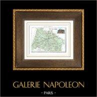 Antique map - France - Puy-de-Dôme (Clermont - Riom)