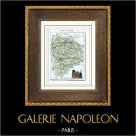 Antique map - France - Seine-et-Marne (Melun - Meaux - Amyot)