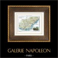 Antique map - France - Var (Toulon)