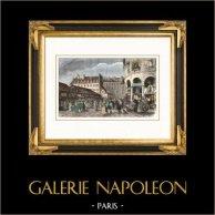 Histoire et Monuments de Paris - Vue de l'ancienne Rotonde du Marché du Temple (France)