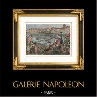 Révolution Française -  Joute Navale sur la Seine  (18 juillet 1790) - Fête de la Fédération