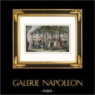 Campement des Cosaques et des Troupes Anglaises sur les Champs-Elysées (6 Juillet 1815)