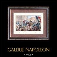 Louis-Philippe quitte le Palais-Royal pour se rendre à l'Hotel de Ville (1830) - Trois Glorieuses - Révolution de Juillet - Roi des Français