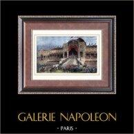 Fördelning av örnarna av Princen Louis Napoleon Bonaparte på Champ-de-Mars i Paris (maj 10, 1852) | Original tråstick efter teckningar av Gaildrau. Akvarell handkolorerad. 1880