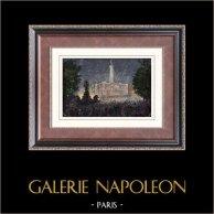 Observatorium in Paris - Französische Nationalfeiertag (1880) - Erstürmung der Bastille - Föderationsfest - Feuerwerk
