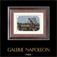Vue de Paris - Obélisque de Louxor - Place de la Concorde - Construction (1836)