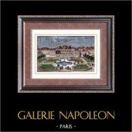 Vista de París - Monumentos Históricos de París - Jardines del Palais Royal - Luis XV de Francia