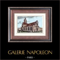 Widok Paryż - Rive Droite - Kościół świętego Laurenta - Faubourg - świętego Martina