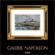 Vue de Paris - La Salpétrière sous le règne de Louis XIV de France