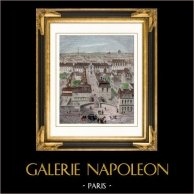 View of Paris  - Gobelins Public Garden - Gobelins Manufactory