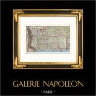 Vista de París - Monumentos Históricos de París - Jardines de las Tullerias - Jardin des Tuileries en 1652