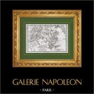 Carte de la Grèce - Argolide - Péloponnèse - Iles Saroniques - Egine | Gravure sur cuivre originale dessinée par Jean-Denis Barbié du Bocage, gravée par Giraldon-Bovinet. 1821