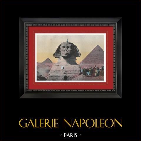 Sphinx - Grote Piramide van Gizeh - Piramide van Cheops (Egypte) |