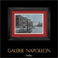 Vue de Venise - Gondole - Grand Canal - Palazzo Cavalli-Franchetti (Italie)