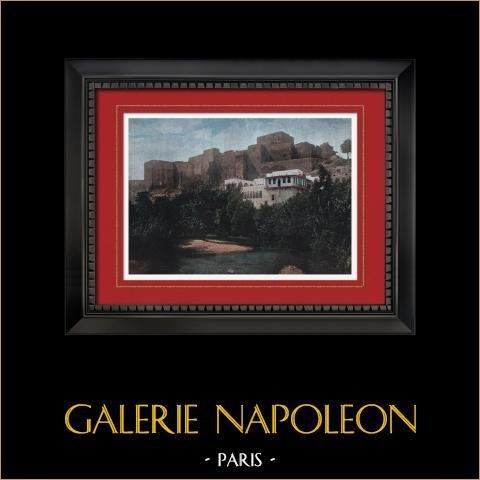 Tripolis - Die Schloss (Libyen) | Original photochromdruck gestochen von Gillot. 1890