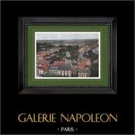 Vista de Auray - Bretanha (Morbihan - França) | Gravura fotocroma original gravada por Gillot. 1890
