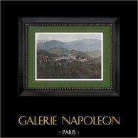 Gebirgstal von Argelès-sur-Mer - Languedoc-Roussillon (Pyrénées-Orientales - Frankreich) | Original photochromdruck gestochen von Gillot. 1890