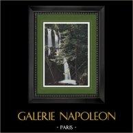 View of Luchon (Haute-Garonne - France) - Waterfall - Cascade du Parisien