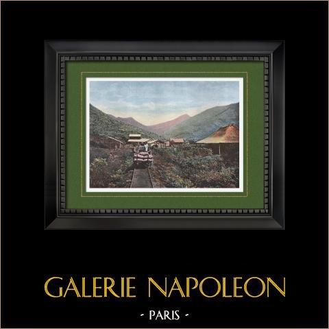 Nouvelle-Calédonie - Mine de Cobalt (France) | Gravure en photochromie originale gravée par Gillot. 1890