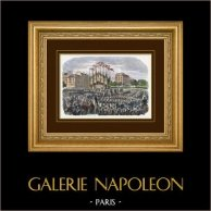 Campaign in Italy - 1859 - Napoleon III - The Emperor with the Italian Army on Place de la Bastille