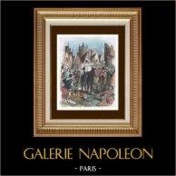 Charles VI - Impots - L'huissier se rendit à cheval aux Halles lieu ordinaire des proclamations