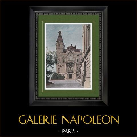 Frankrike - Franska Rivieran - Côte d'Azur - Provence - Furstendömet Monaco - Kasinot i Monte Carlo | Original photochrom stick graverade av Gillot. 1890