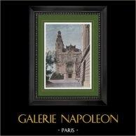 Francia - Costa Azzurra - Côte d'Azur - Provenza - Principato di Monaco - Casinò di Monte Carlo | Stampa fotocromia originale incisa da Gillot. 1890