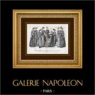 Gravura de Moda - Paris - 1890 - Madame Pelletier-Vidal