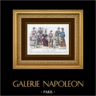 Gravura de Moda - Paris - 1893 - Mademoiselle Thirion - Madame Emma Guelle - Madame Taskin