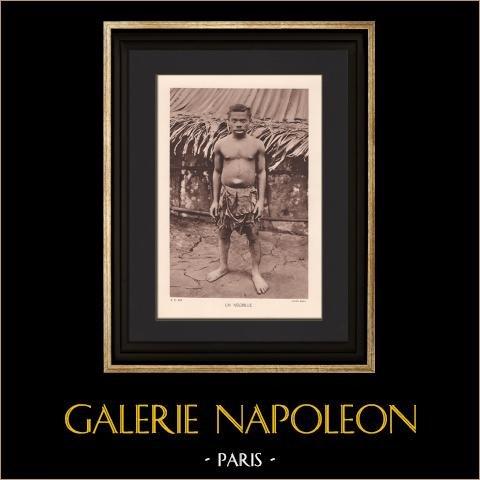 Portrait de Pygmée (Afrique) | Héliogravure originale. Anonyme. 1934