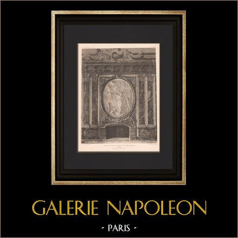 Arkitektur - Hotell av Greve de Castellane i Paris - Härd (Sanson, Aubé) | Original heliogravyr. Anonymt. 1906