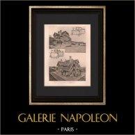 Arquitectura - Casita de campo du Belloy - Le Mesnil-le-Roi Yvelines | Original helio grabado según Jandelle & Hommet. 1906