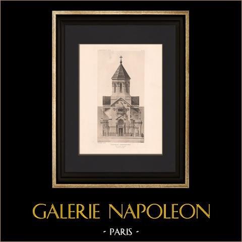 Architektur - Armenisch Kapelle - Paris (Guilbert - Dufeu) | Original heliogravüre nach Guilbert. 1906